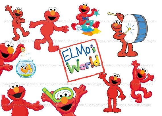 Sesame Street clipart vector On 1st 1st Elmo's World
