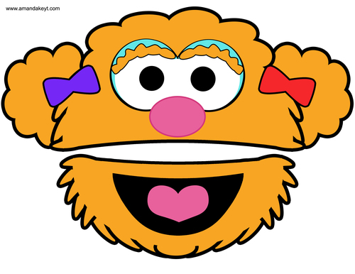 Sesame Street clipart zoey Street Download Instant Printable Booth