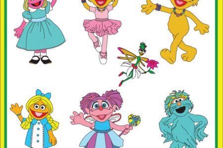 Sesame Street clipart zoey Girls Instant to Art Cadabby