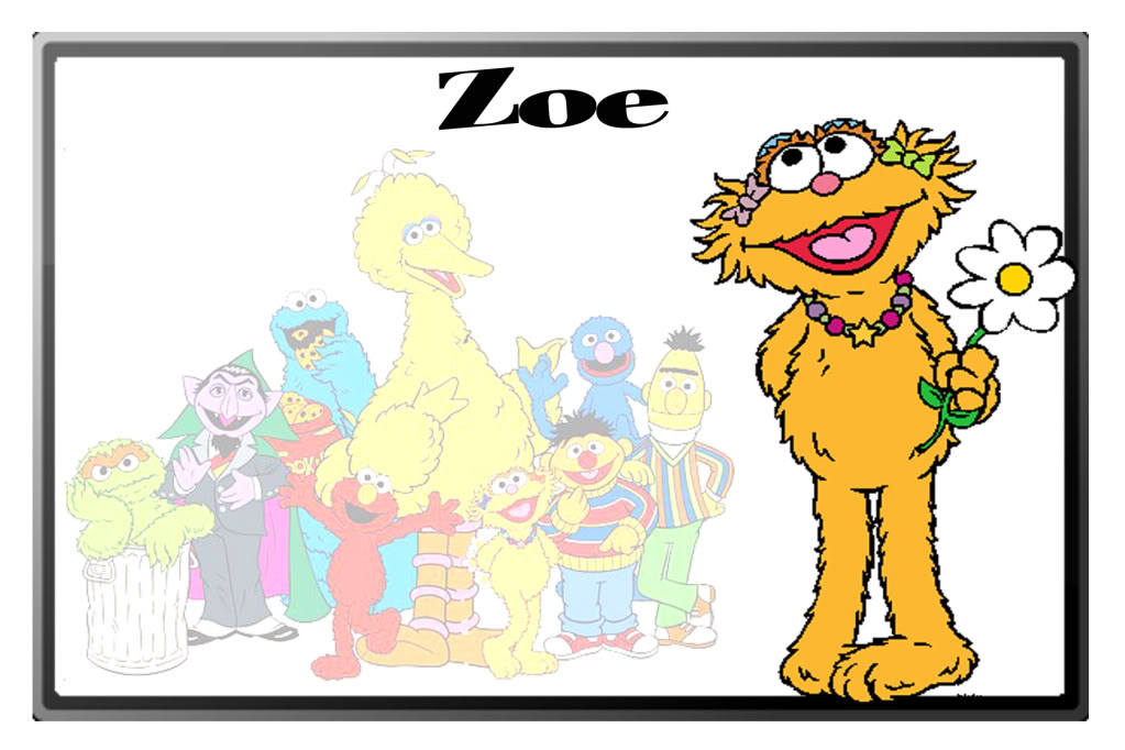 Sesame Street clipart zoey Sesame street sesame Zoe Art