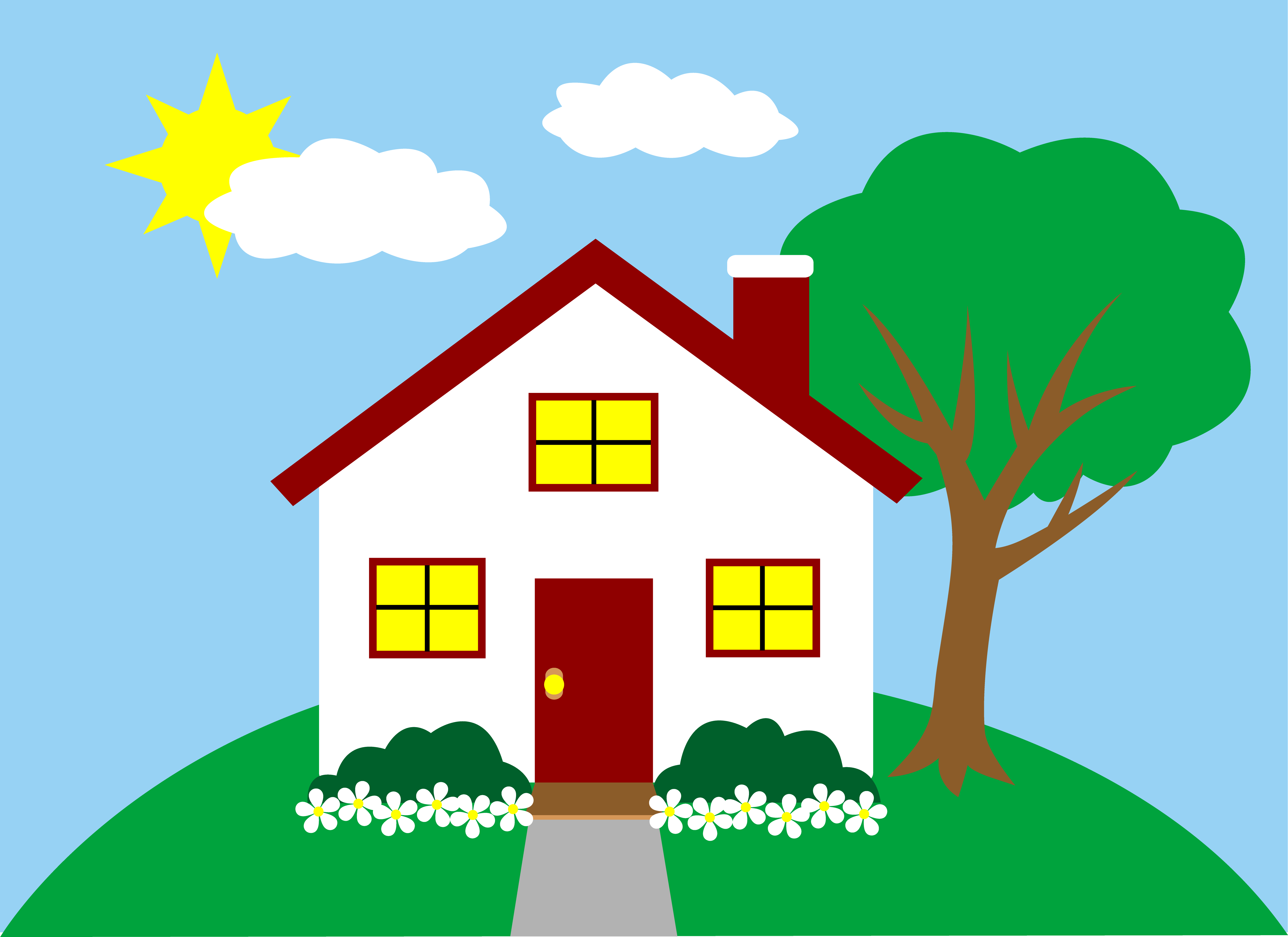 Scenery clipart beautiful house #1