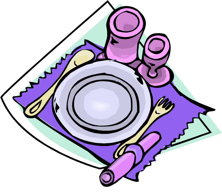 Setting clipart dinner Maid Dinner Clipart the Table