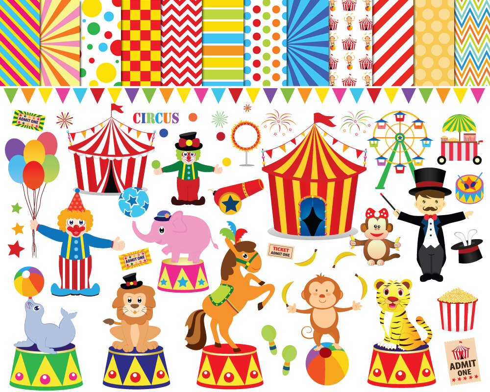 Carousel clipart lion Design art Circus clipart Clipart