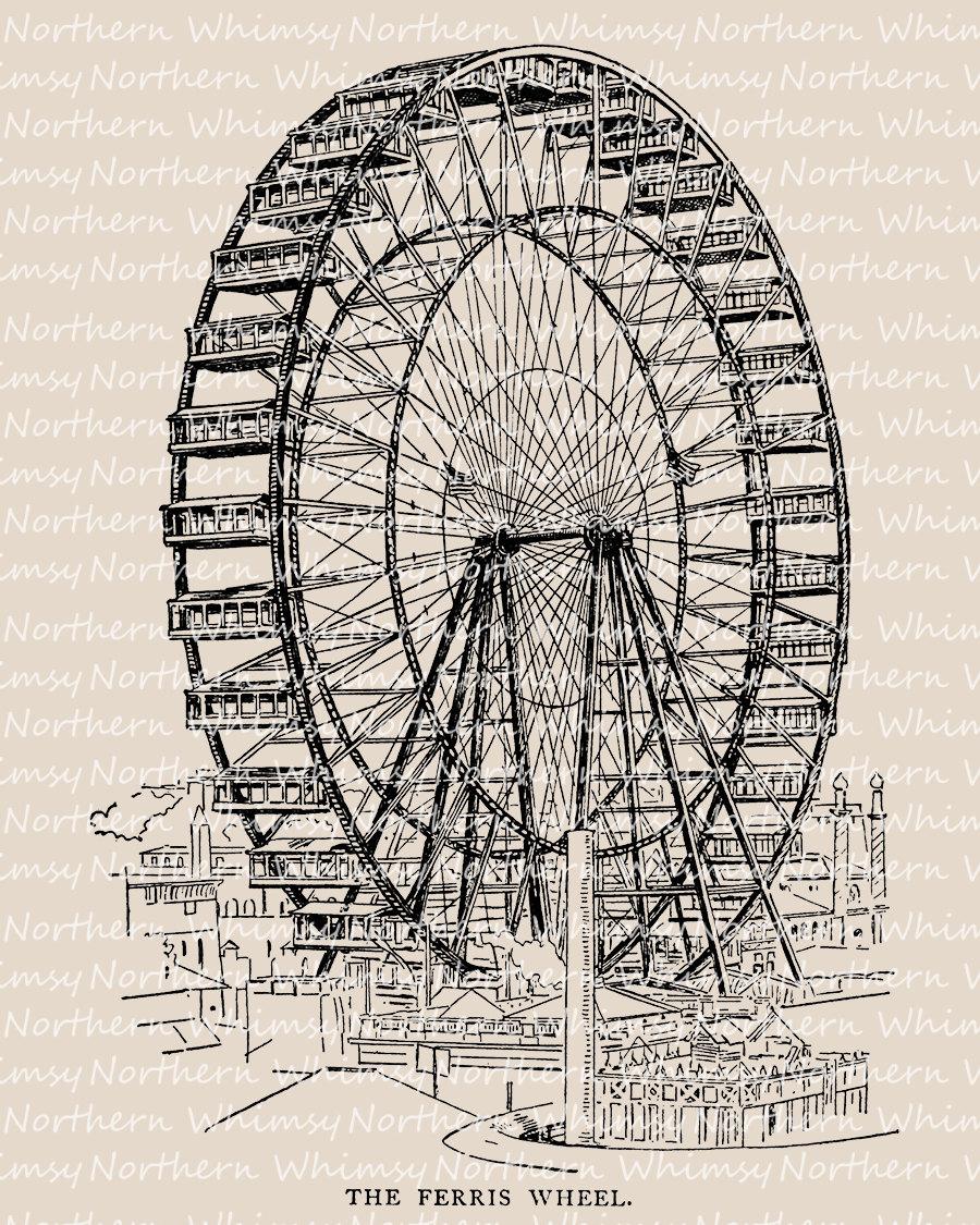 Ferris Wheel clipart vintage carnival Wheel This  Carnival Clip