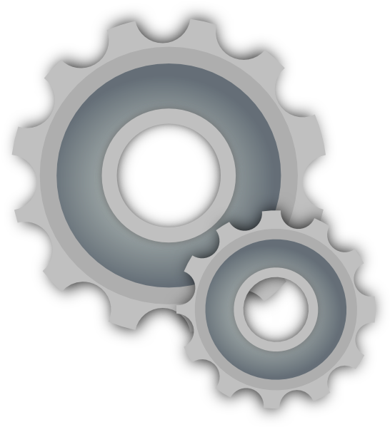 Setting clipart many gear At com vector system Clker