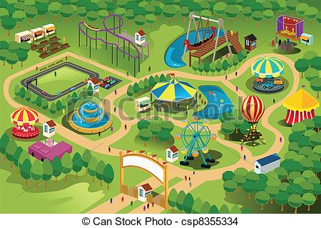 Park clipart map Royalty clip illustration Vector free
