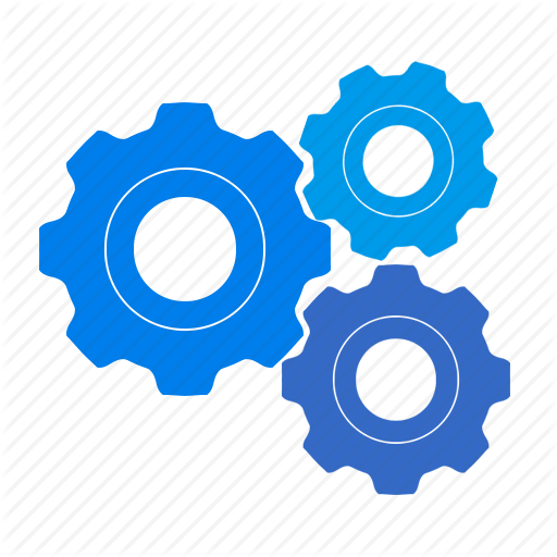 Setting clipart system Options configuration Cogwheel control gears