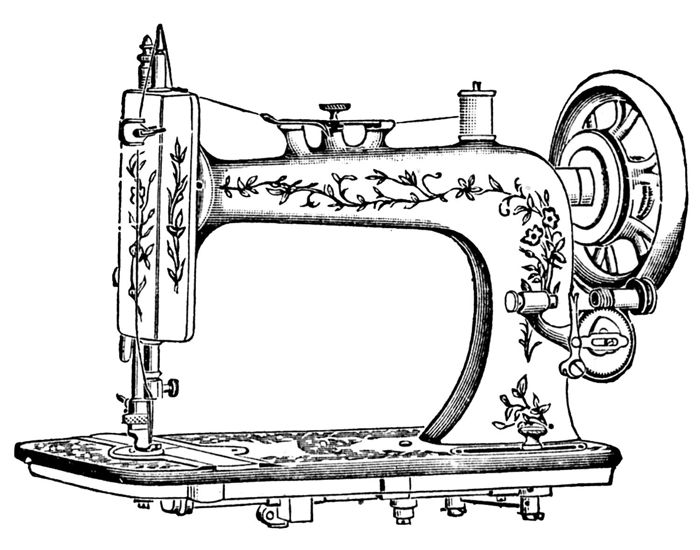 Sewing Machine clipart Machine Art Art Antique Clip