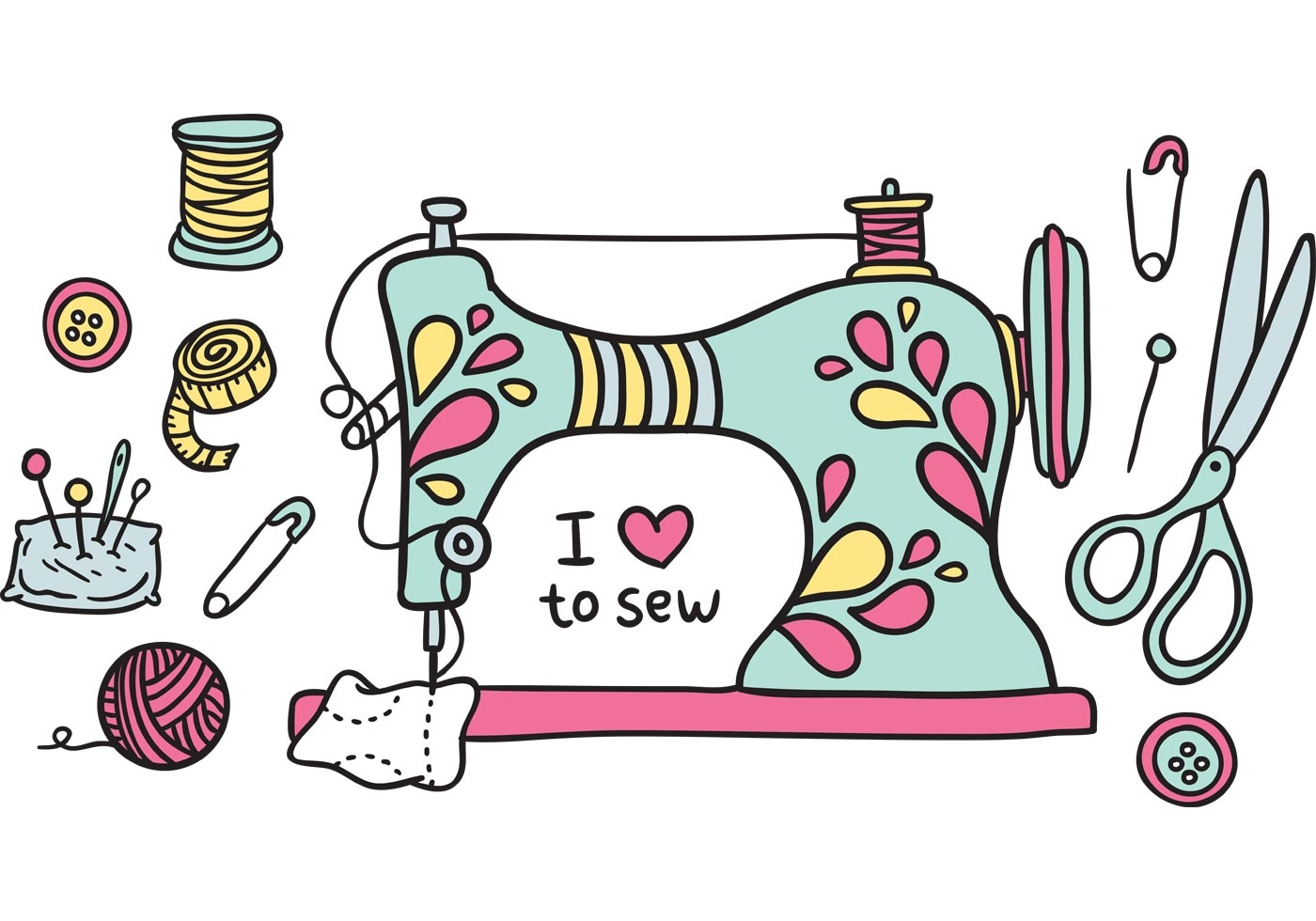 Sewing Machine clipart Sewing domain Free clipart machine