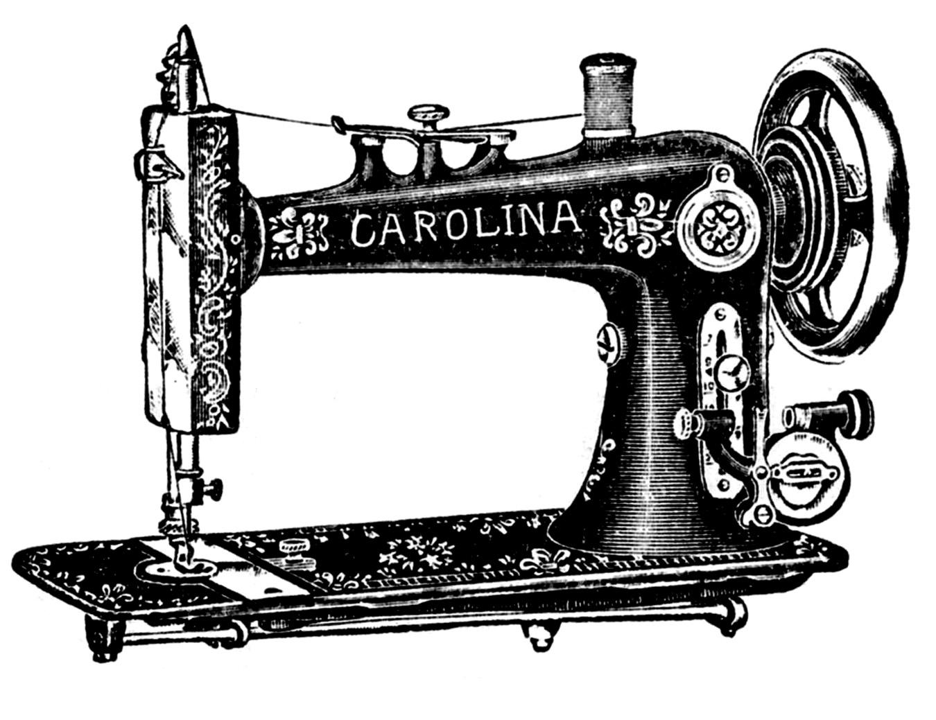 Sewing Machine clipart & Art Art Vintage Clip