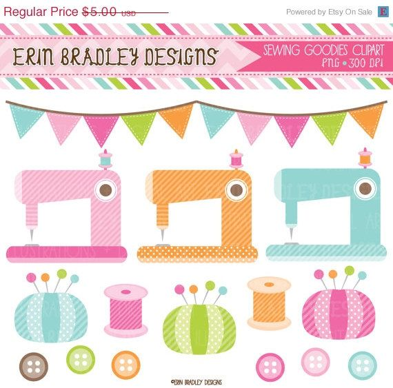 Sewing Machine clipart border #3