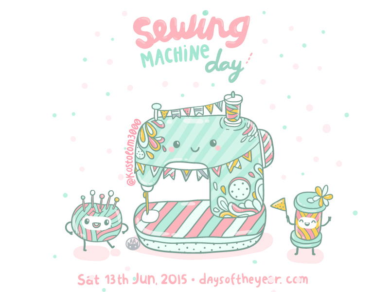 Sewing Machine clipart day #4