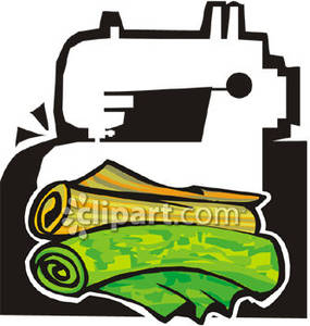 Sewing Machine clipart fabric roll #3