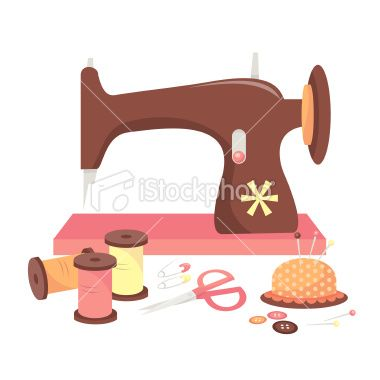 Sewing Machine clipart fabric roll #9