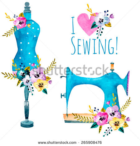 Sewing Machine clipart sewing mannequin #5