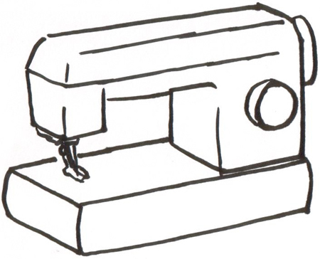 Sewing Machine clipart simple #8