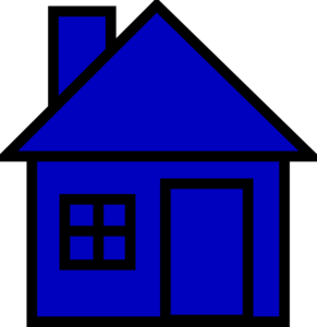 Shack clipart different house Clipart vector Panda Blue Free