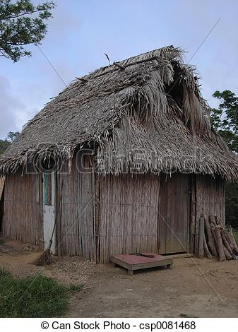 Shack clipart grass hut A hut  grass Caribbean
