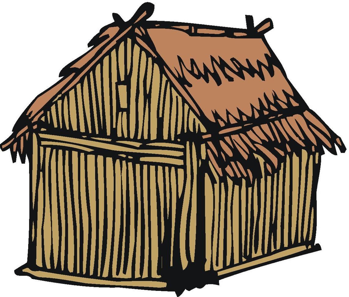 Shack clipart grass hut Black Image Cliparts Free Clipart
