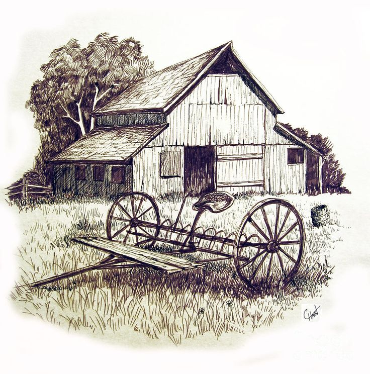 Structure clipart old barn Country/horses silhouettes on Pin about