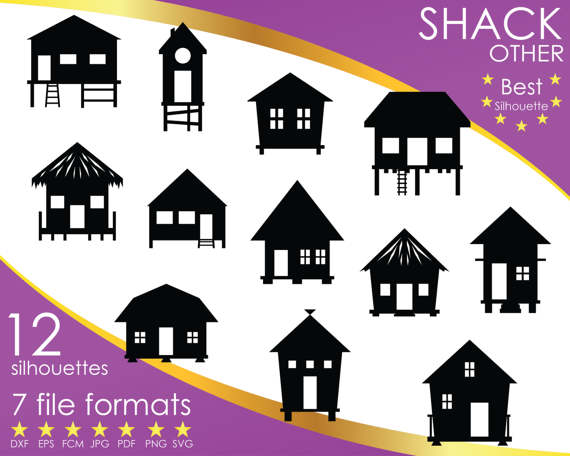 Shack clipart lodge Dxf Shack Others Silhouettes eps