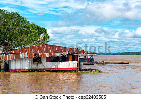 Shack clipart river Floating on Floating the Amazon
