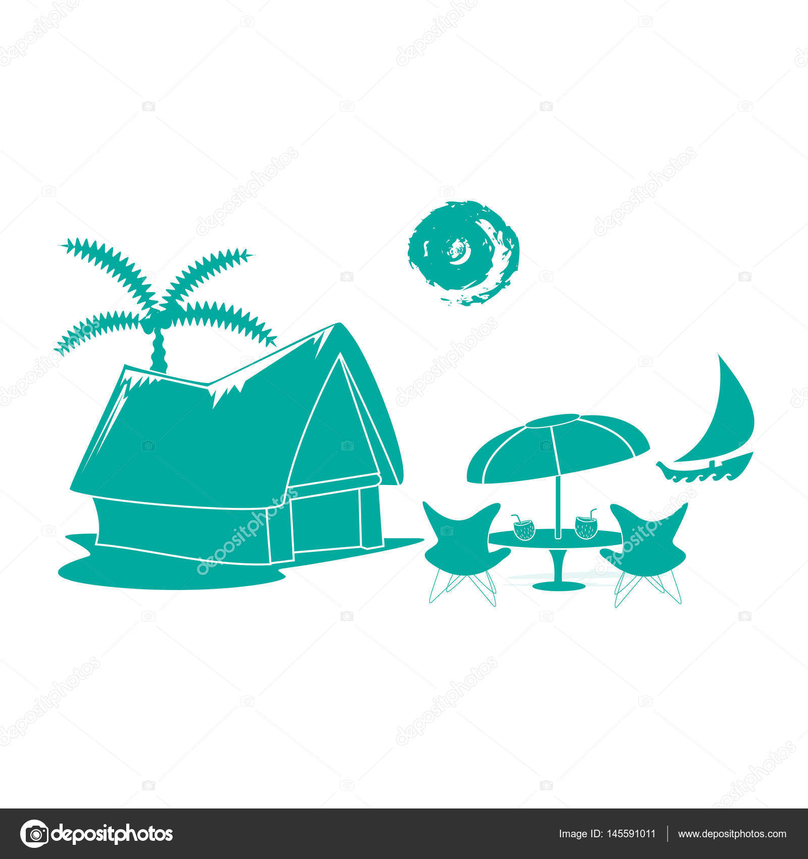 Shack clipart simple Risovalka2015 #145591011 icon Vector Stock