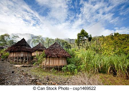 Shack clipart village hut Traditional village mountain  in