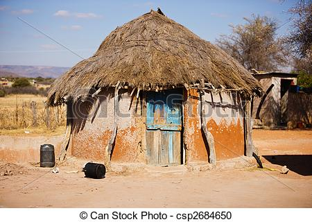 Shack clipart village hut Stock  Photography African a