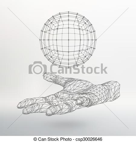 Shadow clipart arm Ball hand sphere the Polygon