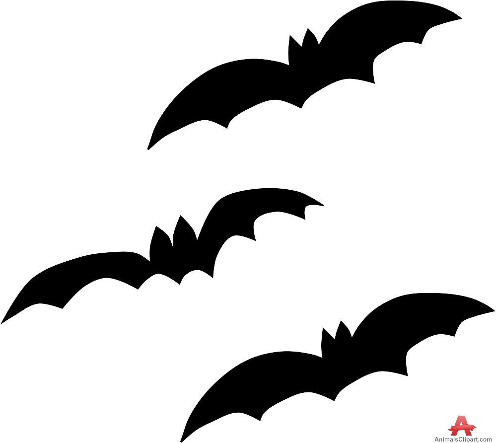 Bat clipart big black Bats Clipart Design Three Free