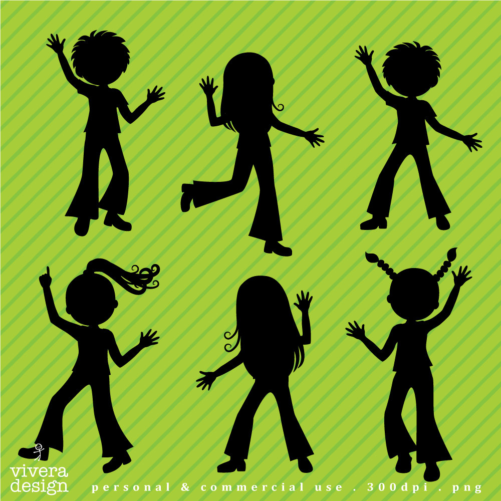 Shadow clipart excited kid #11
