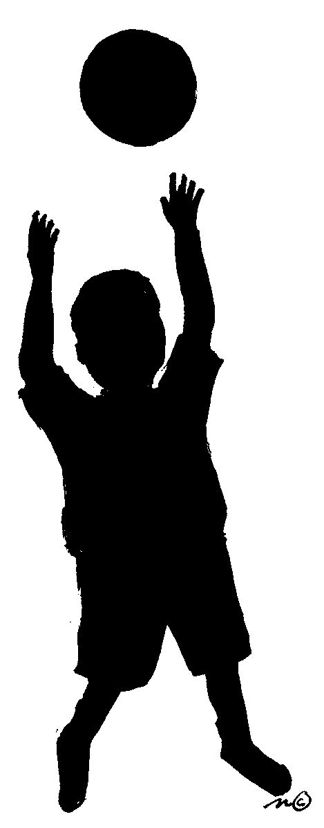 Shadow clipart excited kid #13