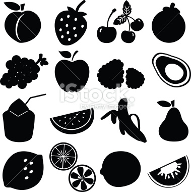 Shadow clipart fruit #15