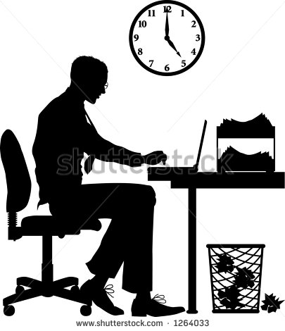 Shadow clipart male office worker #9