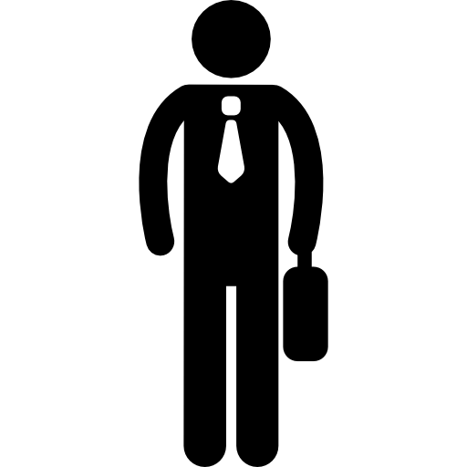 Shadow clipart male office worker #10