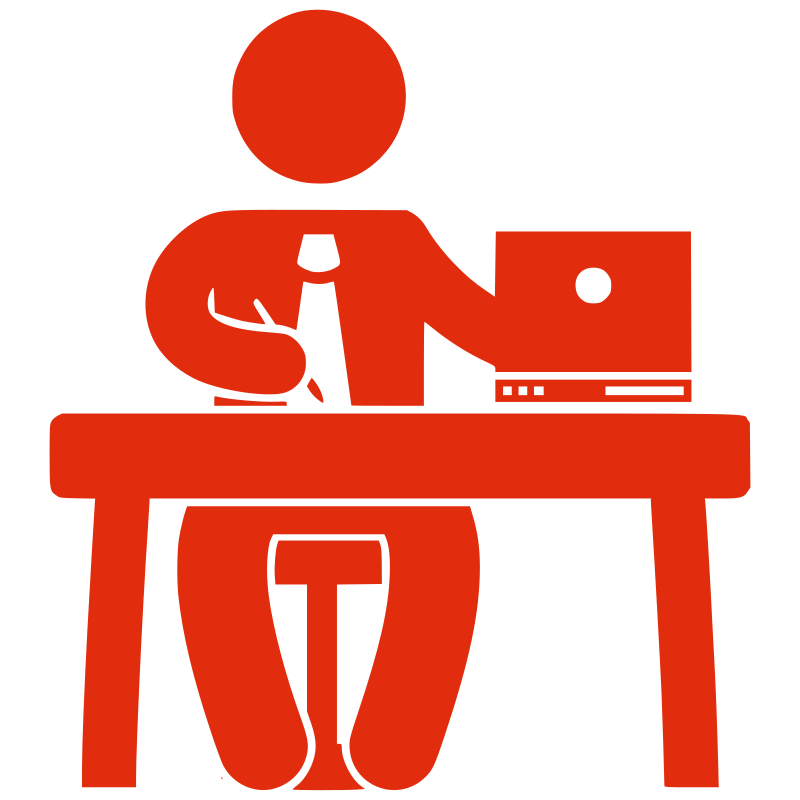 Shadow clipart male office worker #14