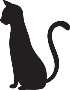 Shadows clipart black cat I Silhouette Craft love Art