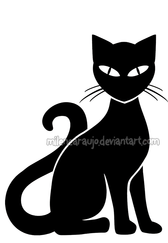 Shadows clipart black cat On by milenearaujo milenearaujo Cat