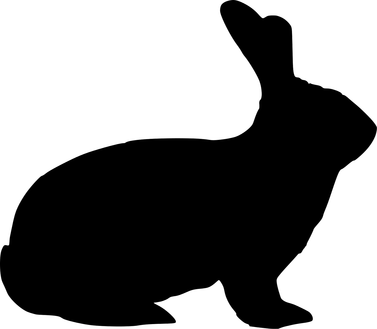 Hare clipart silhouette Pictures Rabbit Rabbit Becuo Art