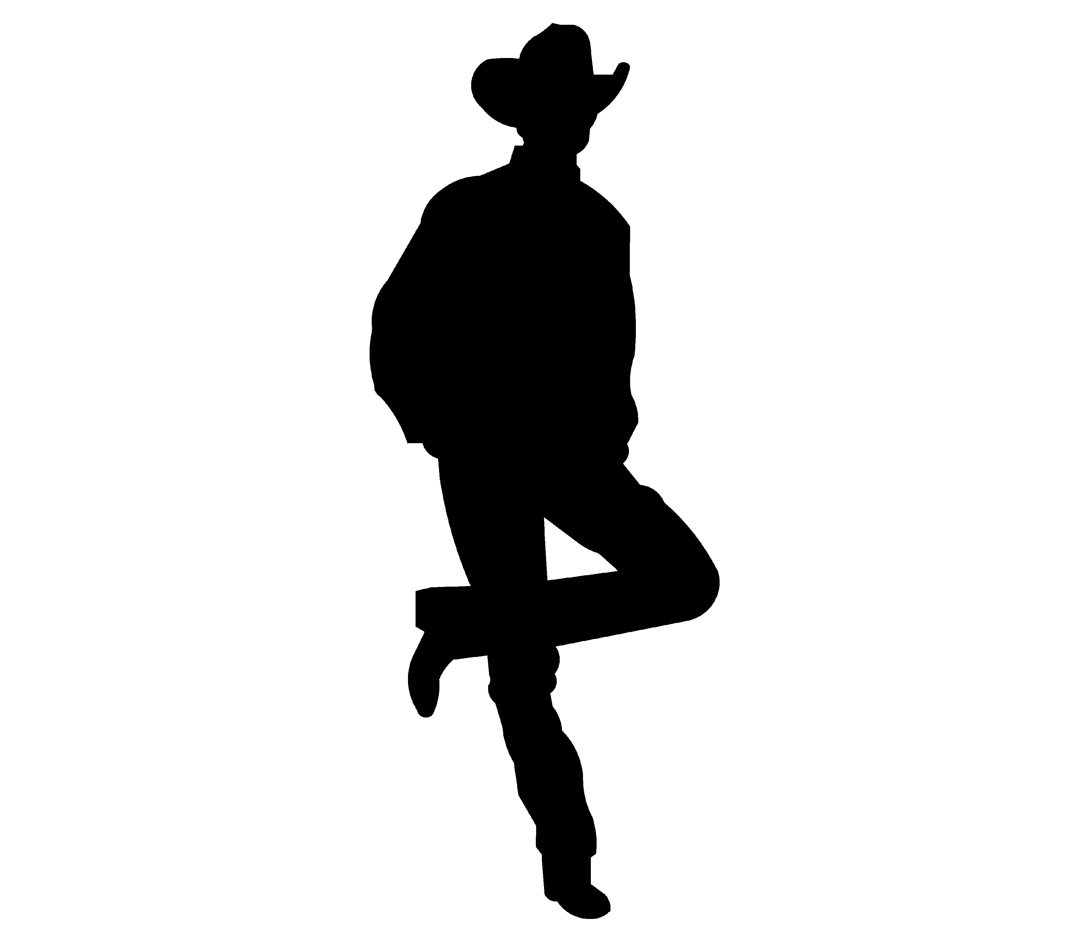 Shadows clipart cowboy Clip picturespider Silhouette Free Download