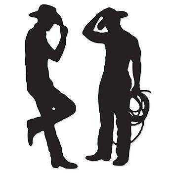 Shadows clipart cowboy Best Fiesta Cowboys o Cutouts