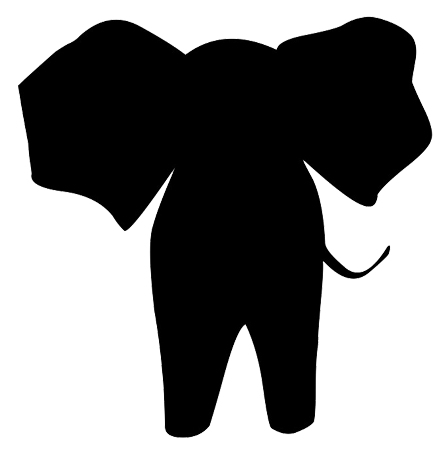 Zoo clipart easy animal Art Clipart Silhouettes Silhouette Elephant