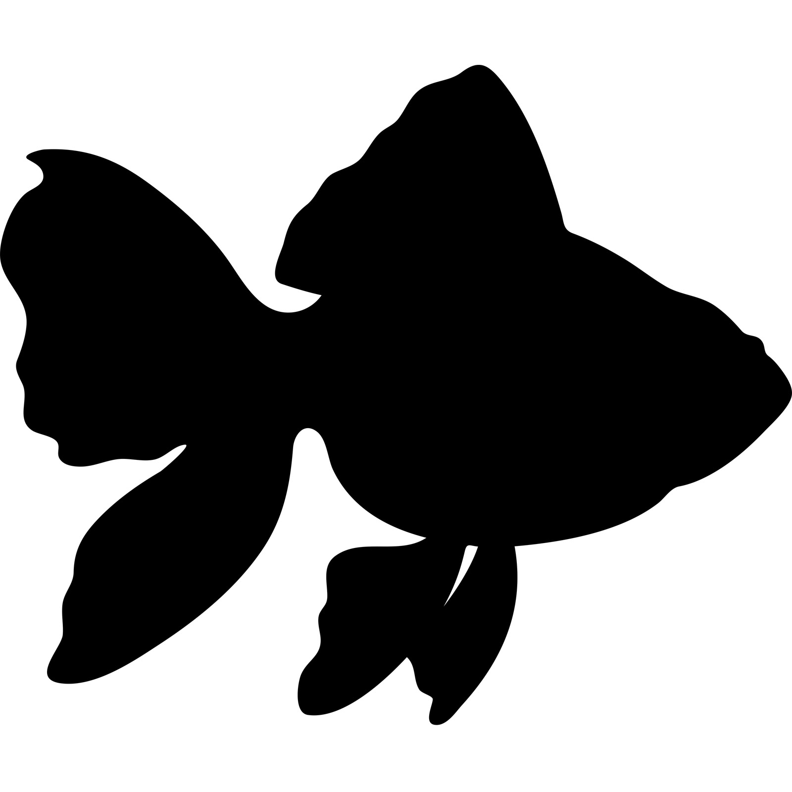 Shadow clipart fish #6