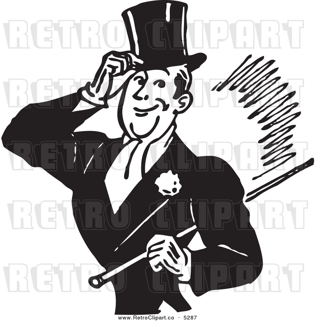 Retro clipart gentleman #3