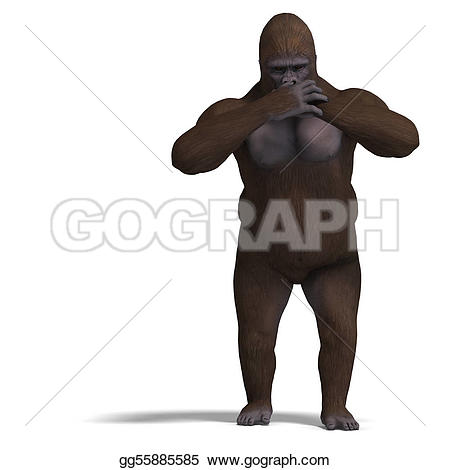 Shadows clipart gorilla Over not Drawing speaking nothing