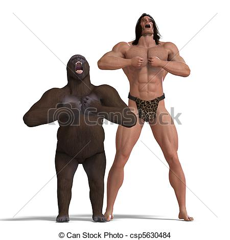 Shadows clipart gorilla Over ground of friends and