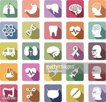 Shadows clipart human body  Retro Color Icons Flat