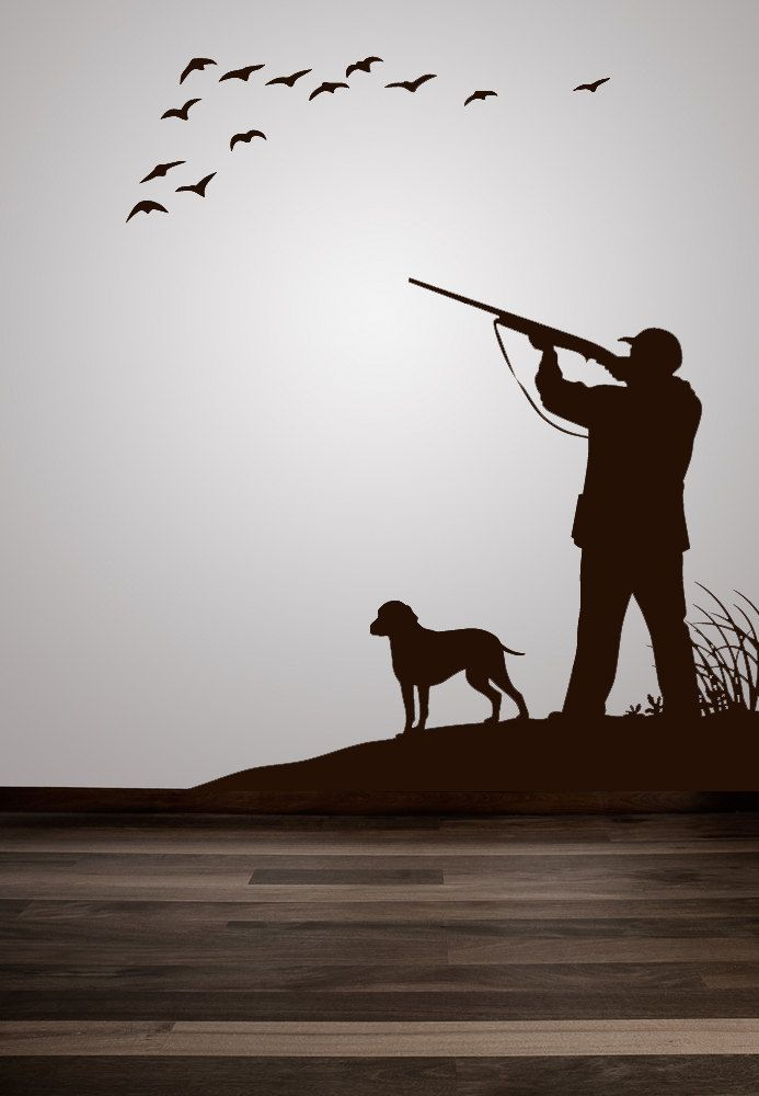 Shadows clipart hunting dog Hunt Duck Scene Duck Decor