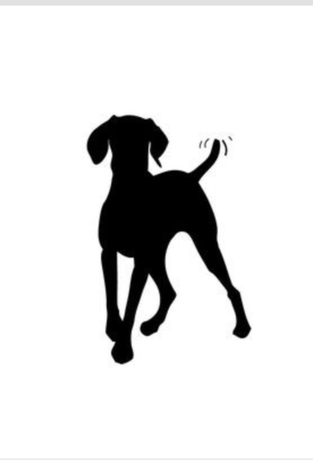 Shadows clipart hunting dog Vinyl decal this love I